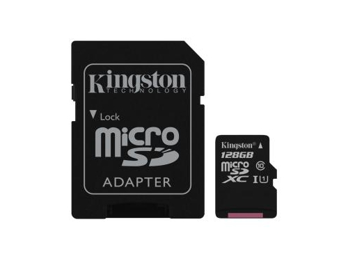 KINGSTON MICRO CANVAS SELECT UHS-I SDCS/128GB+ADAPT