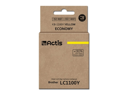 Actis tusz Brother LC1100/LC980 Yellow   KB-1100Y