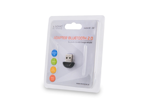 Savio Adapter BT-02 Bluetooth męski USB 2.0