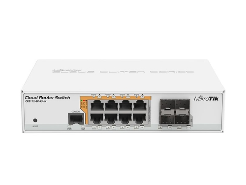 MikroTik CRS112-8P-4S-IN Switch 8x RJ45 1000Mb/