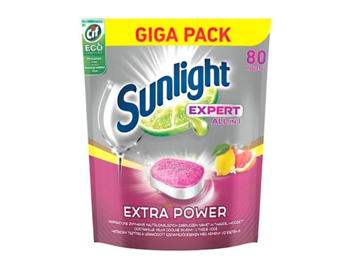 SUNLIGHT Expert EP Tabletki do zmywarki Citrus80szt - 8710847888960