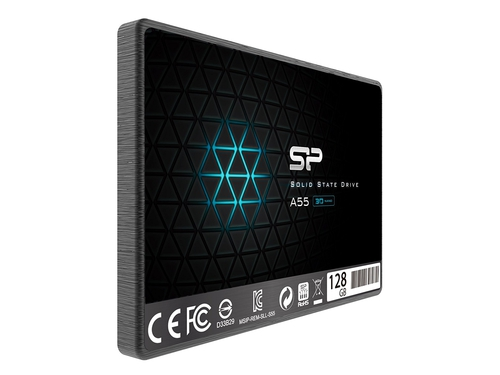 "SSD Silicon Power A55 128GB 2.5"" SATA3 3D NAND 7mm - SP128GBSS3A55S25"