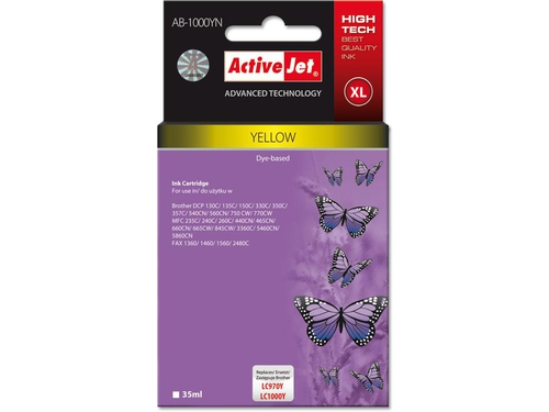 Activejet tusz Brother LC1000 Yellow AB-1000Y - AB-1000YN