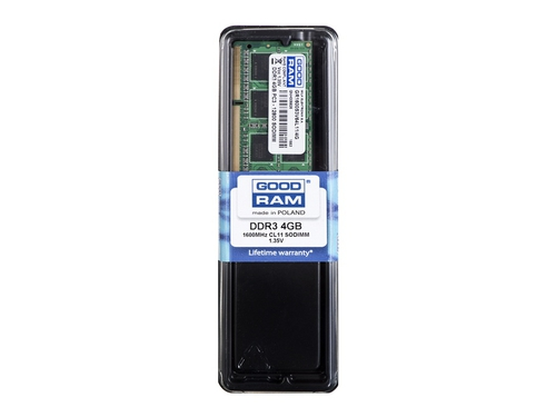 Pamięć Goodram SO-DIMM DDR3 4096MB PC1600 CL11 256x8 1,35V - GR1600S3V64L11/4G