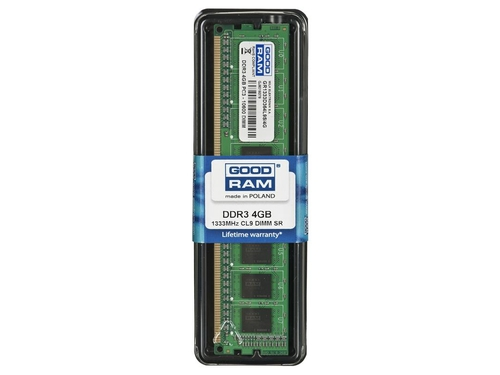 Pamięć RAM Goodram DDR3 4GB PC3-10600 CL9 512x8 - GR1333D364L9S/4G