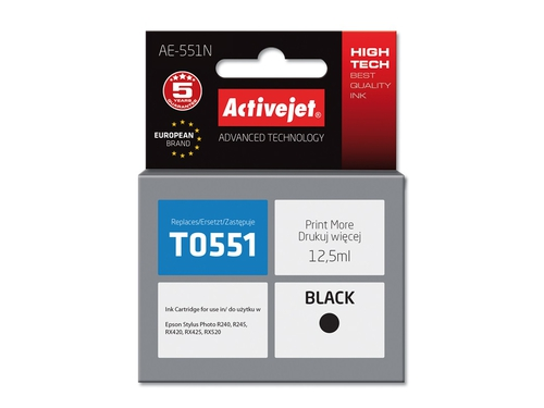 Activejet tusz Eps T0551 RX420/RX425 Black