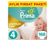Pampers Pieluchy Premium Monthly Box S4 168
