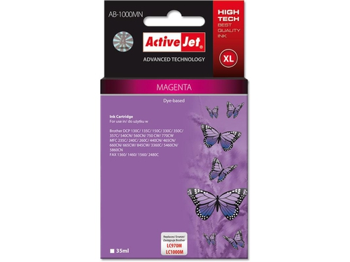 Activejet tusz Brother LC1000 Magenta AB-1000M - AB-1000MN