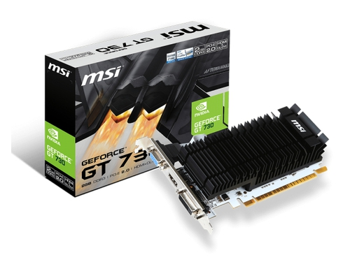 Karta graficzna MSI GeForce® GT 730, 2GB DDR3 (64 Bit), HDMI, DVI, D-Sub - N730K-2GD3H/LP