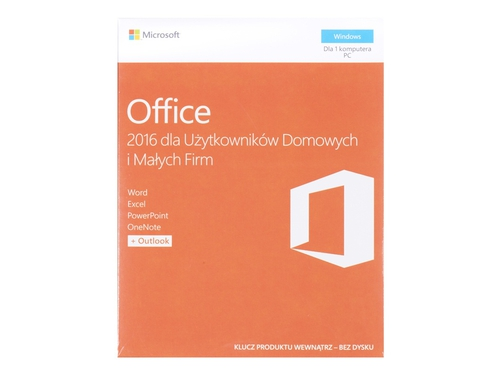 Oprogramowanie biurowe Microsoft Office Home and Business 2016 Win PL EuroZon MLK P2