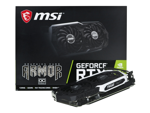 Karta graficzna MSI NVIDIA® GeForce RTX™ 2060 Super GeForce RTX 2060 SUPER ARMOR OC HDCP Support OpenGL 4.5 CUDA: 2176 8GB GDDR6 14000 MHz 256-bit