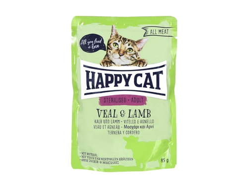 Happy Cat Adult Sterilised Cielęcina i Jag. 85g - HC-6038