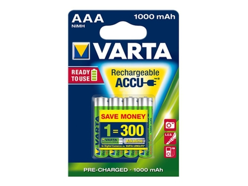 VARTA AKUMULATOR HR03/AAA 1000MAH READY2USE 4 SZT. - 5703301404