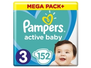 Pampers pieluchy ABD Mega Pack Plus Midi 152szt