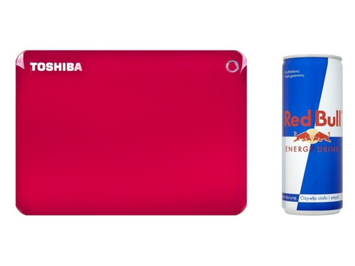 "Dysk zewnętrzny Toshiba HDD STORE CANVIO CONNECT II 2,5"" 2TB RED + RED BULL - HDTC820ER3CA"