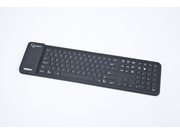 Klawiatura bluetooth silikonowa black full size kb-btf3-b-us - KB-BTF3-B-US