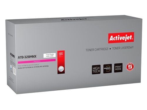 Toner Activejet ATB-328MNX do drukarki Brother, Zamiennik Brother TN-328M; Supreme; 6000 stron; purpurowy.