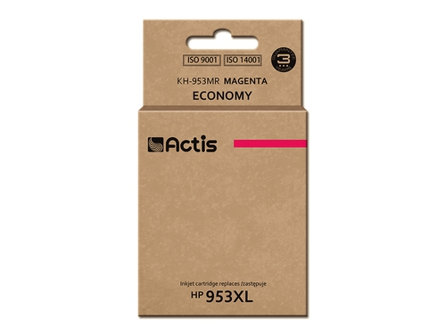 Tusz Actis KH-953MR do drukarki HP, Zamiennik HP 953XL F6U17AE; Standard; 25 ml; purpurowy.