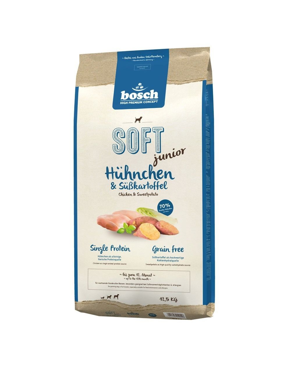 #BOSCH SOFT JUNIOR KURCZAK & BATATY 12,5kg