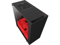 NZXT computer case S340 Elite Matte Black/Red - CA-S340W-B4