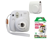 FujiFilm Instax Mini 9 White + Case + film 10 + papier 10x2