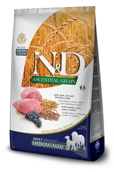 #FARMINA N&D ANCESTRAL GRAIN DOG MEDIUM & MAXI 12kg