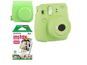 FujiFilm Instax Mini 9 Green + Case + film 10 + papier 10x2
