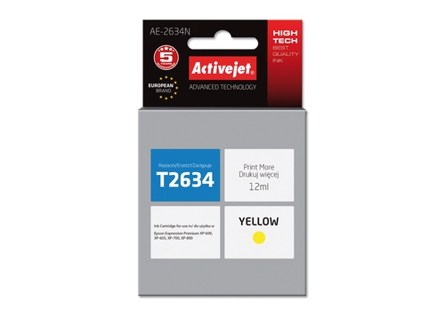 Activejet tusz Eps T2634 Yellow XP-600, XP-800 AE-2634N