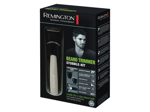 REMINGTON TRYMER STUBBLE KIT MB4110 CZARNO-SREBRNY