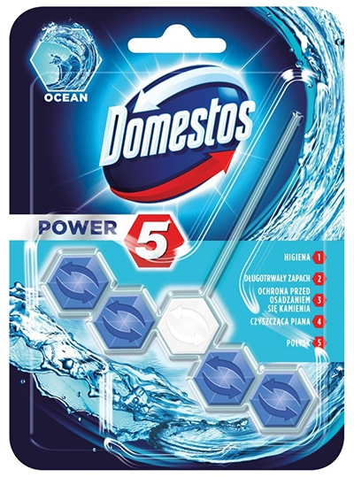 #DOMESTOS Power 5 Kostka zapachowa do WC Ocean 55g