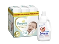 Pampers Pieluchy Premium Monthly Box S5 136 + LOVELA kolor 4,5l
