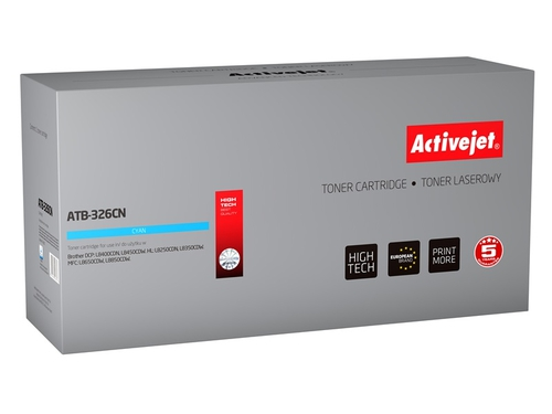 Toner Activejet ATB-326CN do drukarki Brother, Zamiennik Brother TN-326C; Supreme; 3500 stron; błękitny.