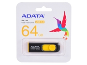 ADATA DashDrive UV128 64GB USB3.0 Black-Yellow - AUV128-64G-RBY