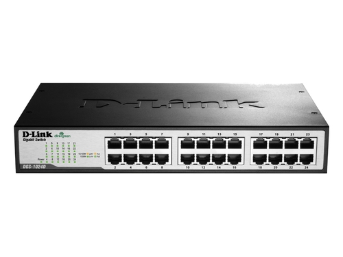 D-LINK DGS-1024D 24-port 10/100/1000 Gigabit Switch - DGS-1024D/E