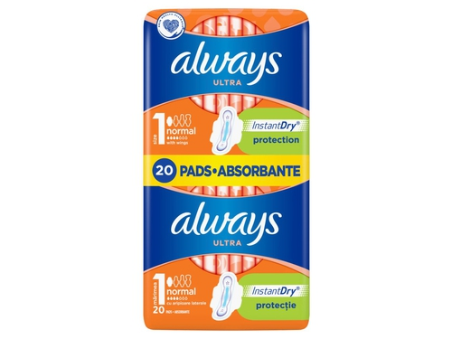 Pads ALWAYS Ultra Normal Plus, 20 pcs.