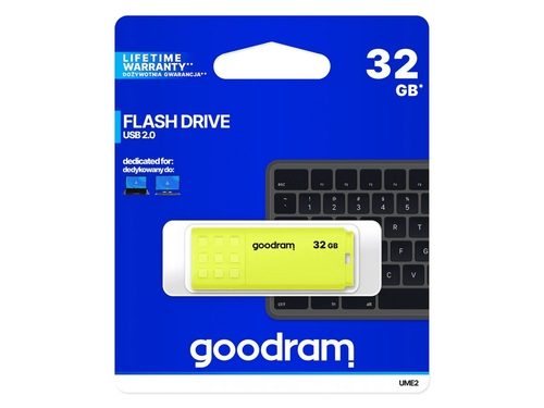 GOODRAM FLASHDRIVE 32GB UME2 USB 2.0 YELLOW - UME2-0320Y0R11