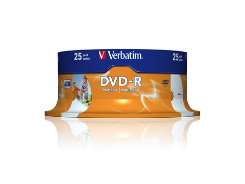 DVD-R VERBATIM AZO 4.7GB 16X WIDE PRINTABLE SP 25SZ - 43538