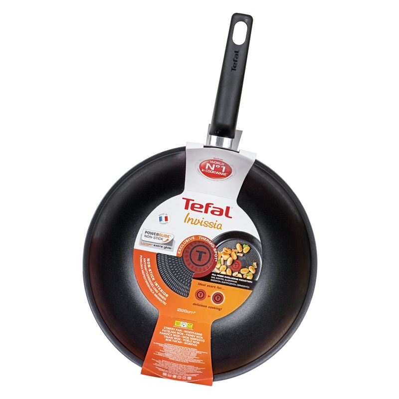 patelnia wok tefal invissia 28 cm b3091942 cena opinie sklep. Black Bedroom Furniture Sets. Home Design Ideas