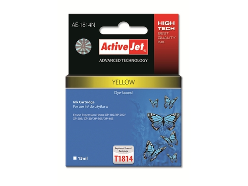 Activejet tusz Eps T1814 Y new AE-1814N