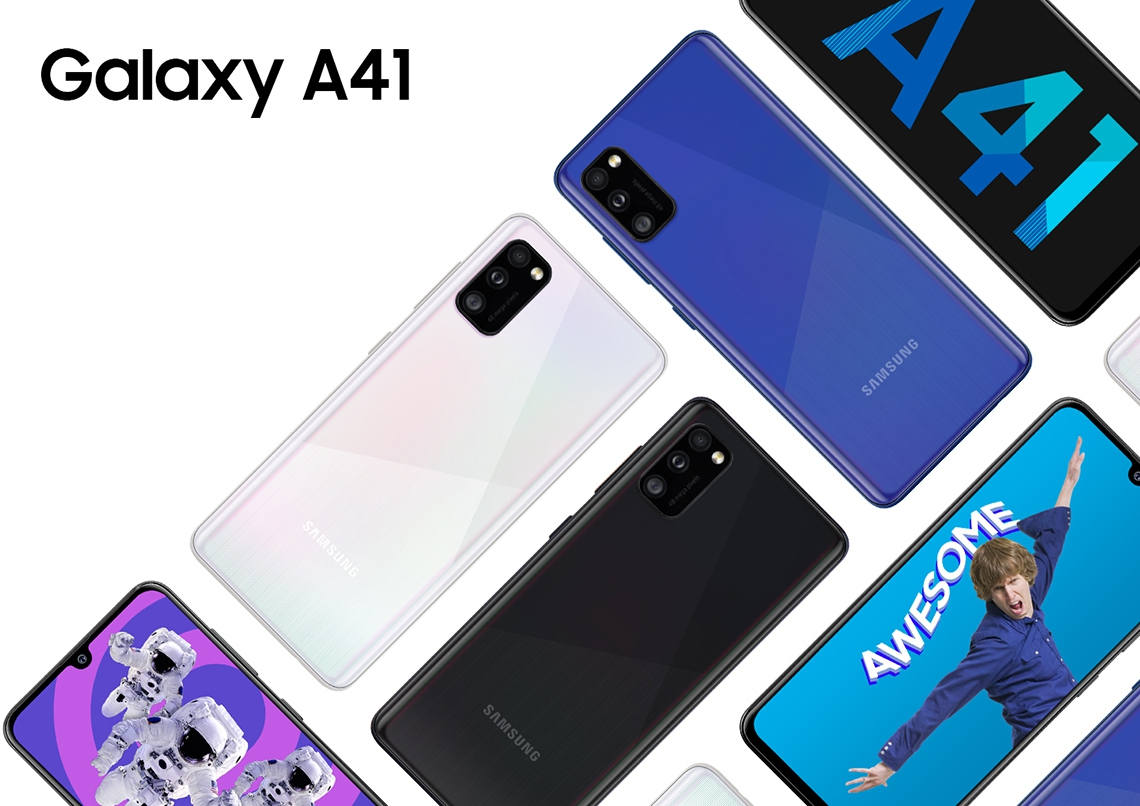 "#Smartfon Samsung Galaxy A41 4/64GB 6,1"" Super AMOLED 2400x1080 3500 mAh Dual-SIM 4G Black"