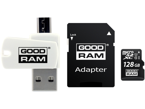 GOODRAM ALL IN ONE microSDHC 128GB Class 10+Czyt.ka - M1A4-1280R12