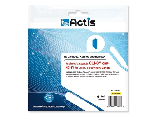 Actis tusz Canon CLI-8 Yellow CHIP KC-8Y