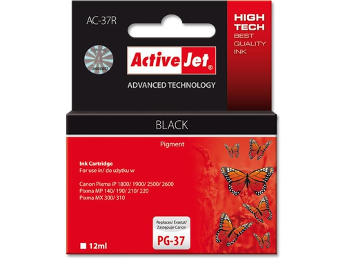 Activejet tusz Canon PG-37 Bk ref. AC-37