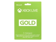 Abonament XBOX Live GOLD 3 do XBOX 360 / ONE - 885370928778