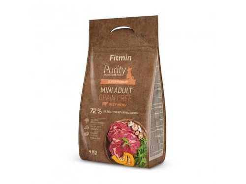 Fitmin Purity dog GF Adult Mini Beef 4 kg