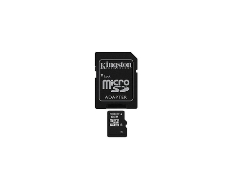 Karta pamięci z adapterem MicroSD SDHC Kingston 8GB Class 4 SDC4/8GB
