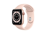 Apple Watch Series 6 GPS + Cellular, 44mm Gold Aluminium Case with Pink Sand Sport Band - Regular - MG2D3WB/A