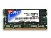PATRIOT DDR1 1GB SIGNATURE 400MHz CL3 SO-DIMM - PSD1G40016S