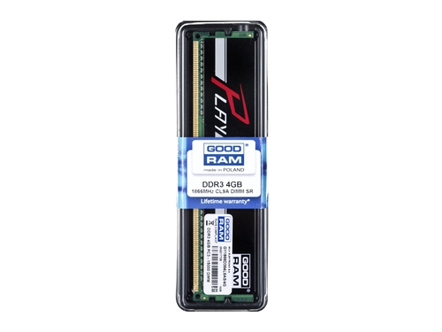 Pamięć RAM Goodram DDR3 Play 4096MB PC1866 Black CL9 512x8 - GY1866D364L9AS/4G