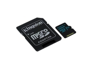 KINGSTON MICRO CANVAS GO UHS-I SDCG2/128GB+ADAPT